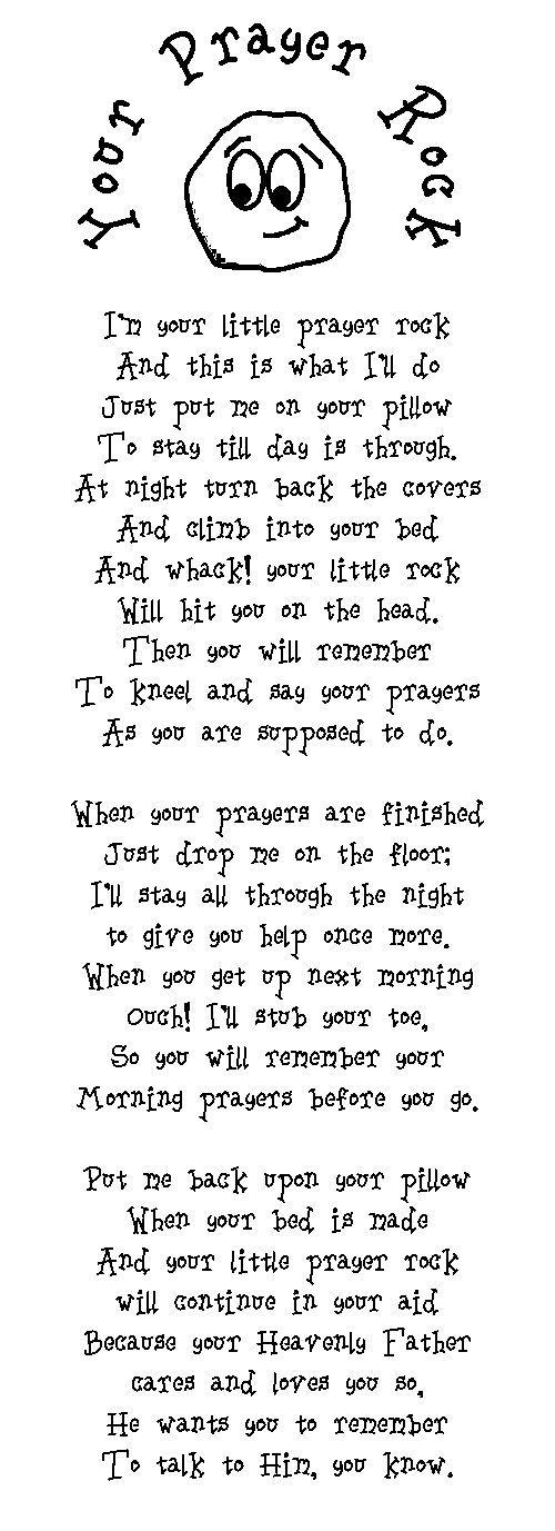 Prayer rock poem kid version good idea for a gifti am prayer rock poem kid version good idea for a gift negle Choice Image