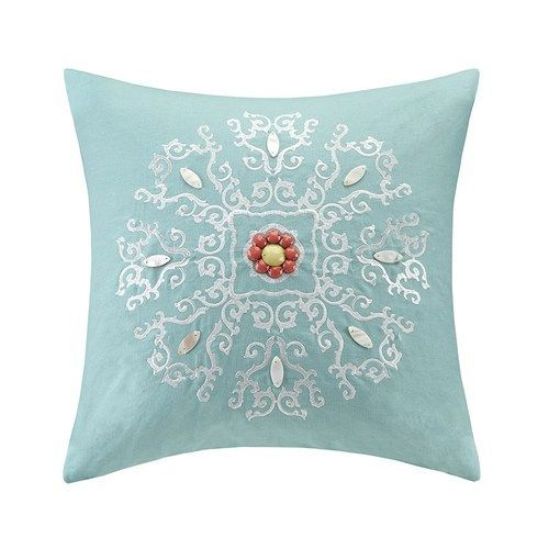The Echo Design Cyprus Embroidered Throw Pillow Will Add A Chic,  Sophisticated Accent To Your Top Of Bed In A Beautiful Bold Aqua With  Medallion Embroidery. Design Inspirations