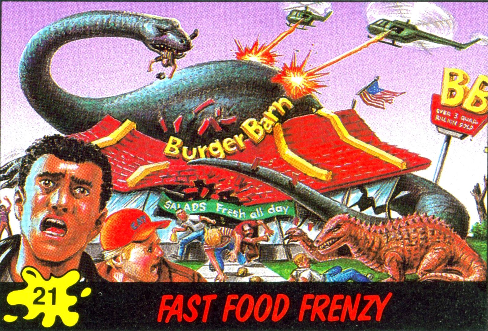 Dinosaurs attack card 21 dinosaur trading cards