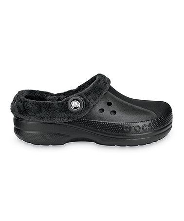 55ae89889abc70 Take a look at this Black Blitzen Polar Clog - Men   Women by Crocs on   zulily today!