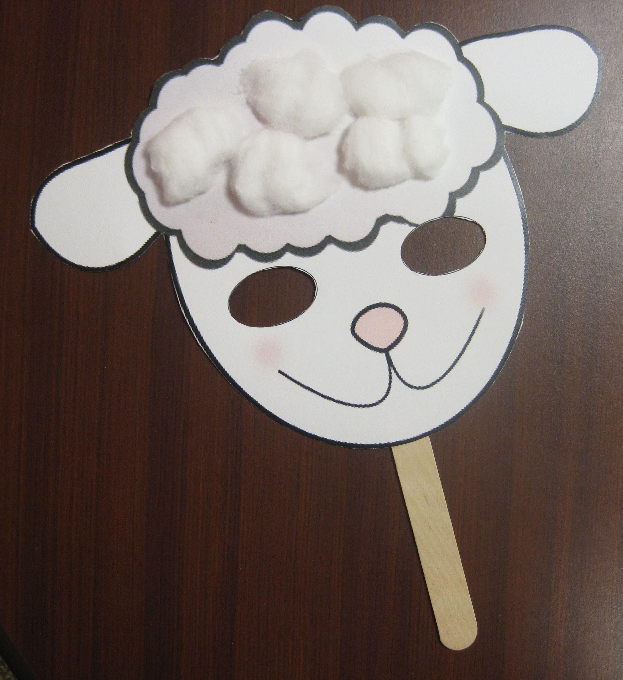 Sheep mask template - Buscar con Google … | Pinteres…