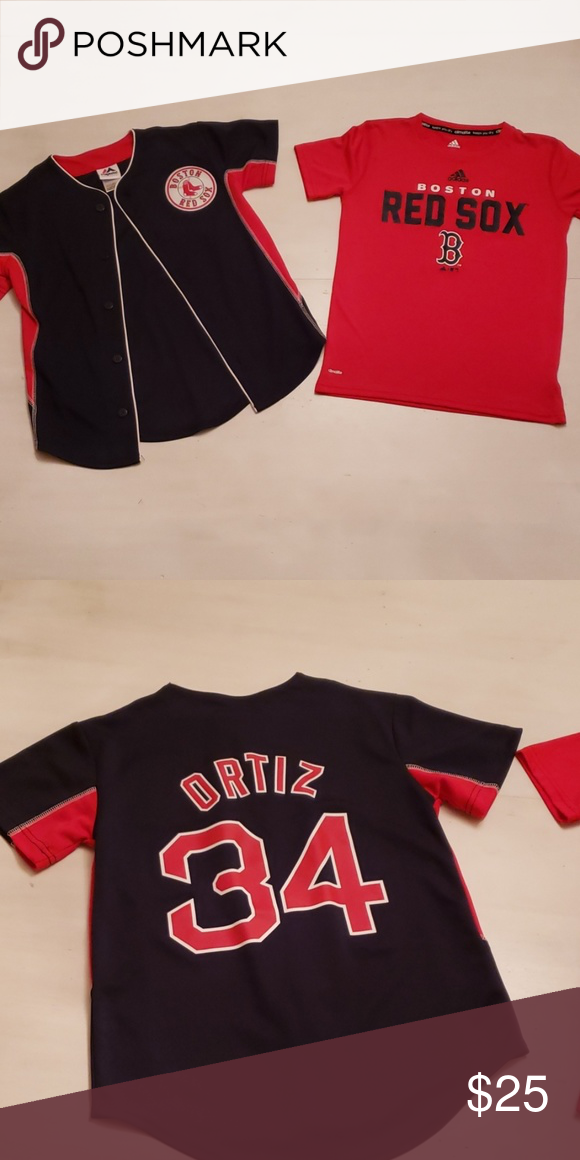 a584a351 Red Sox Boys Size 8 Red Sox Boys Size 8 Includes 2 shirts shown: Ortiz