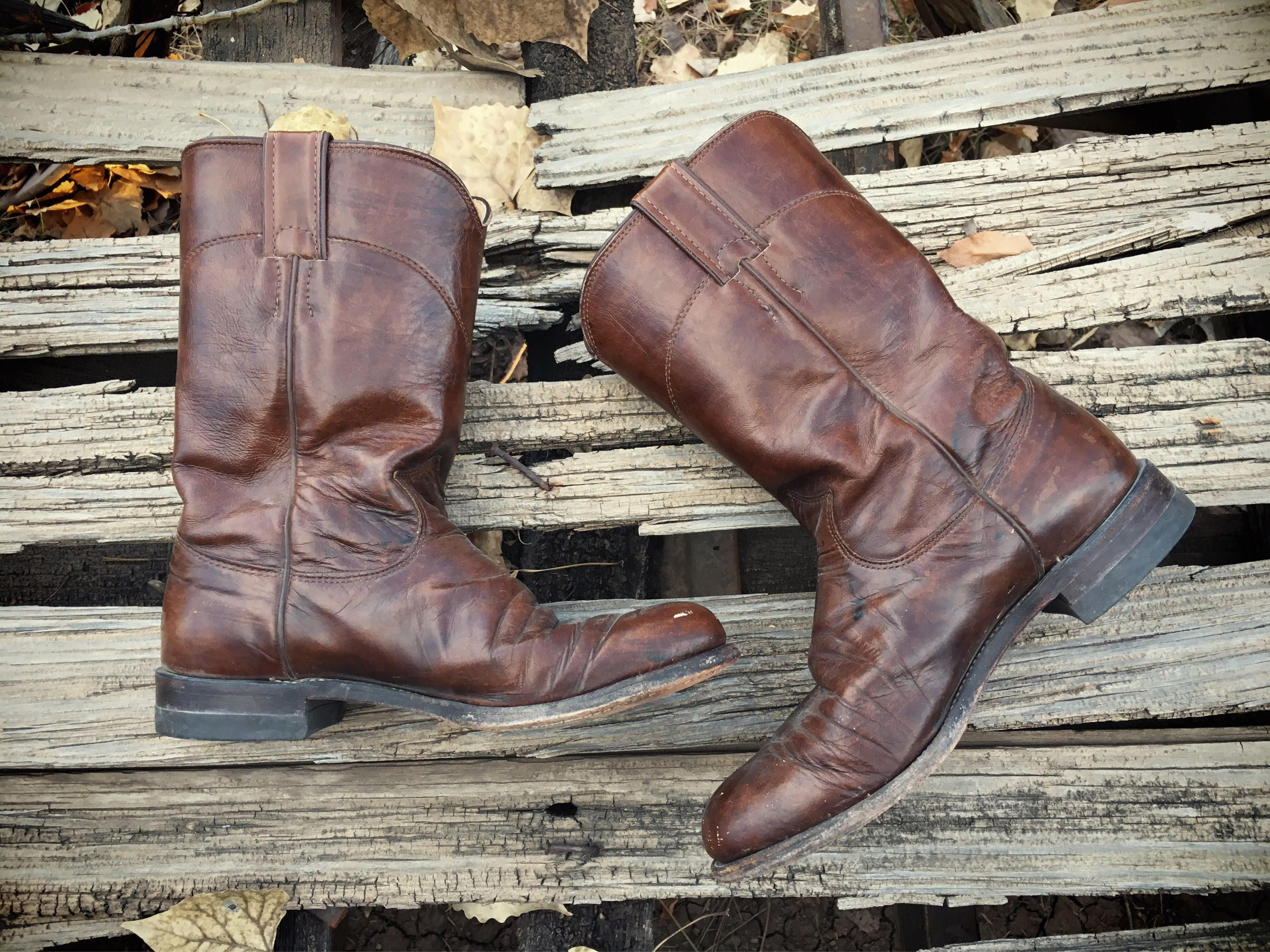 5edd0cffe13 Vintage Cowboy Boots Women Size 7 Justin Roper Cowgirl Boots, Weste ...