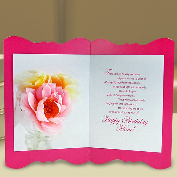 Happy Birthday Mom Greeting Card Dhruv Pinterest Greeting