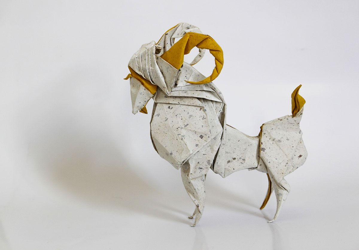 Fantastic Origami Farm Animals To Fold When Youre Cooped Up Parrotdiagram By Barth Dunkan Ecorigami Goat
