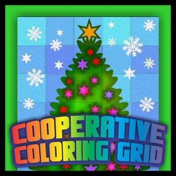 Cooperative Coloring Grid Christmas Tree Bundle Middle School Art Art Activities Color Activities
