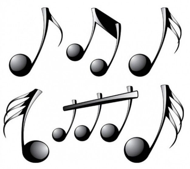 Shiny black musical notes  Music  Pinterest  Note