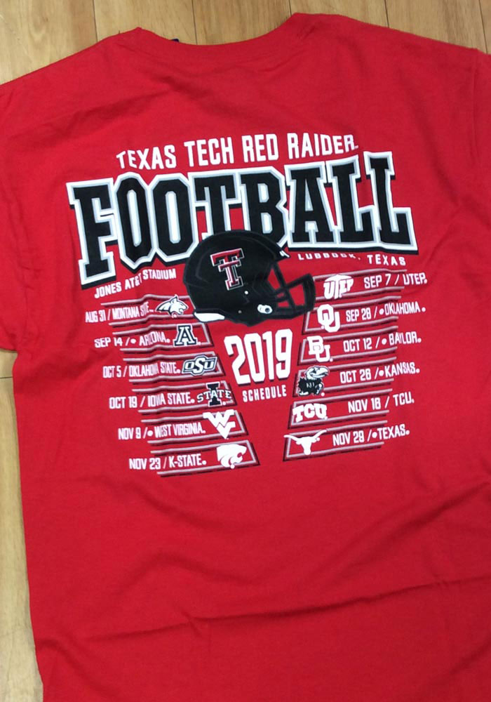 Champion Texas Tech Red Raiders Red Football Schedule