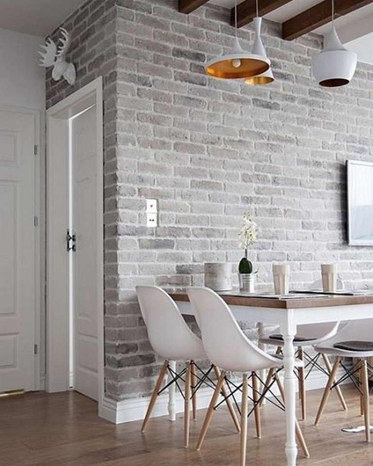 70 Prolong Living Room Design Ideas Brick Wall Living Room White Brick Wall Living Room Brick Wall Interior Living Room