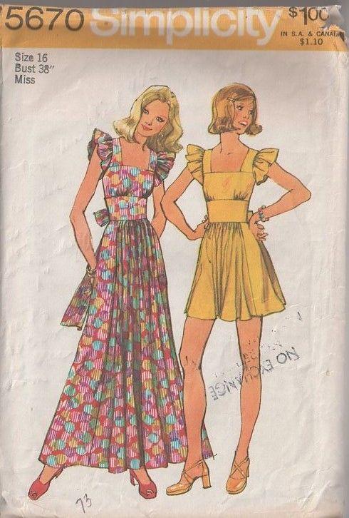 MOMSPatterns Vintage Sewing Patterns - Simplicity 5670 Vintage 70\'s ...