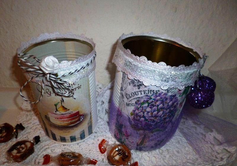 Zwei Vintage-Dosen  für verschiedene Dinge von Rosettas Laden auf DaWanda.com