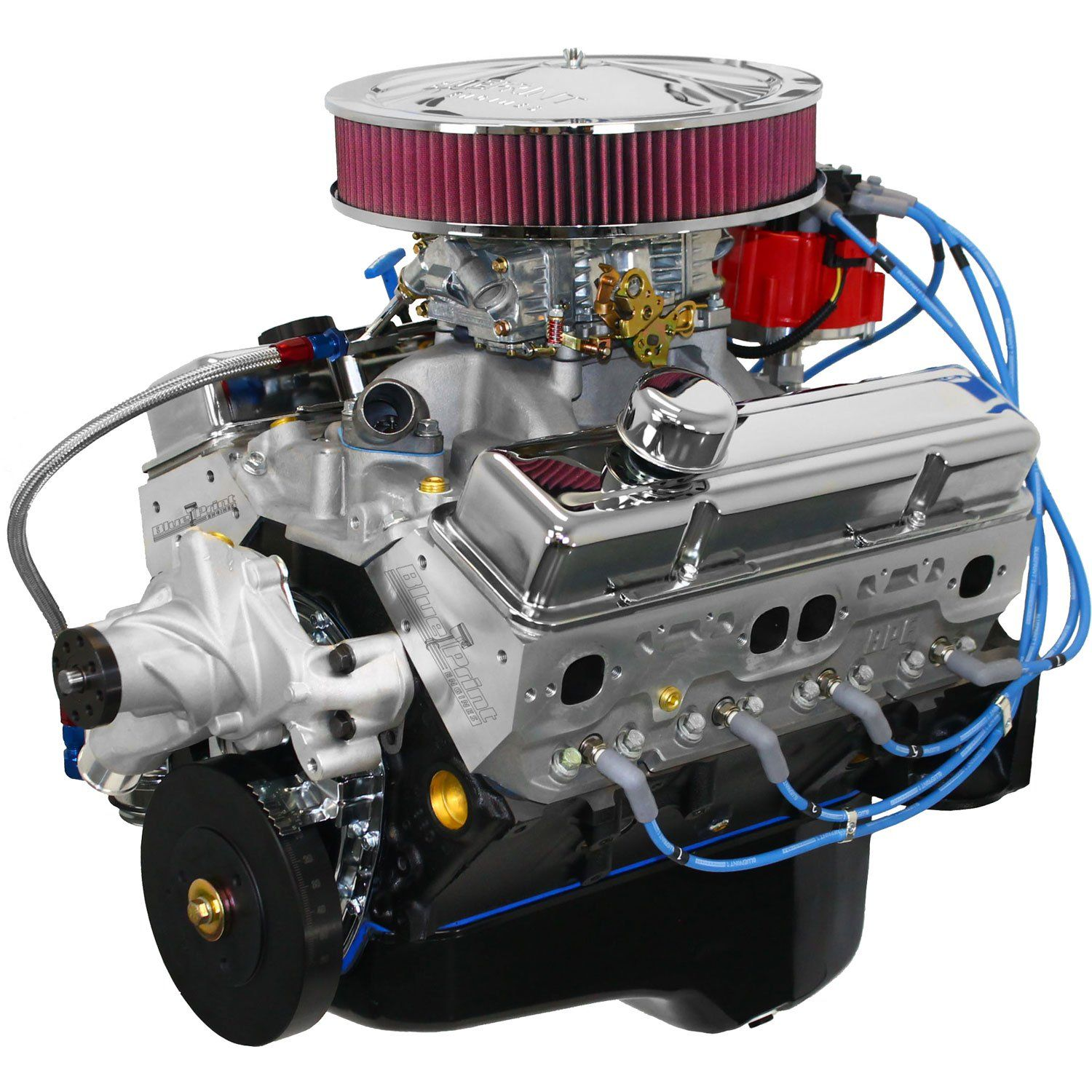 Blueprint Engines Sbc 383ci Dress Engine 430hp 450tq W Aluminum