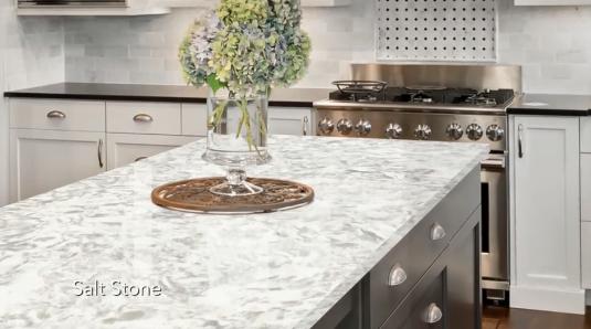 Allen Roth Quartz In Salt Stone In 2020 Kitchen Finishes Salt Stone Quartz Stone Countertops