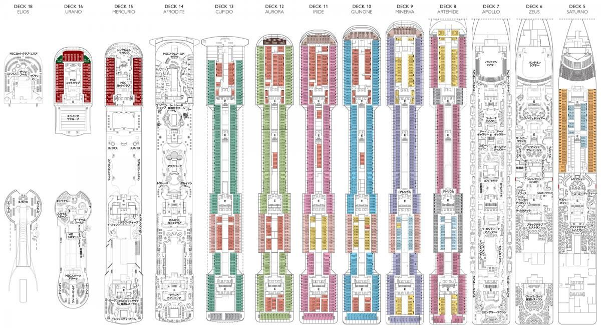 Deck plan msc divina google search trips msc divina for Msc divina floor plan