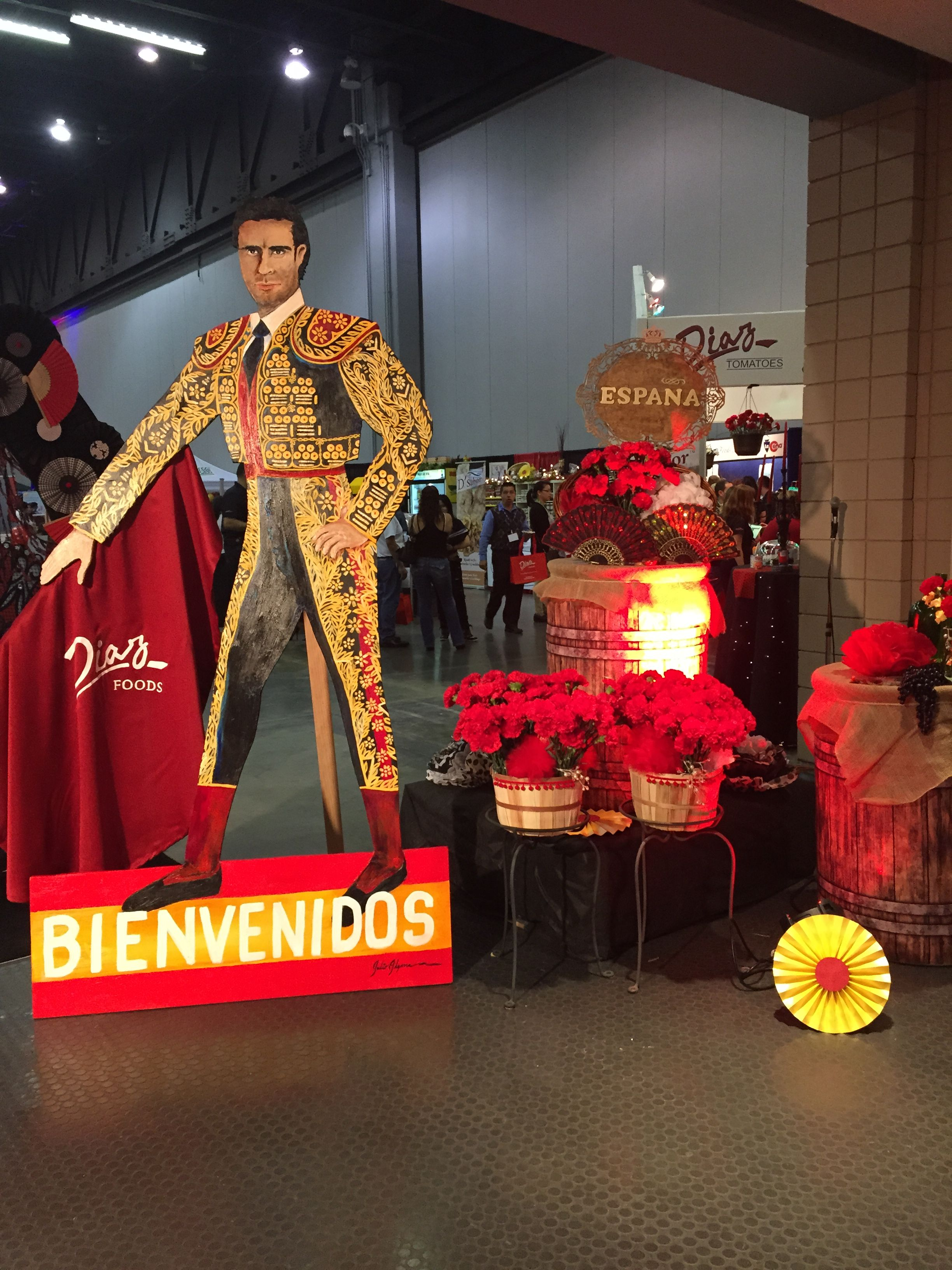 Spanish themed decorations for a trade show at Cobb ...
