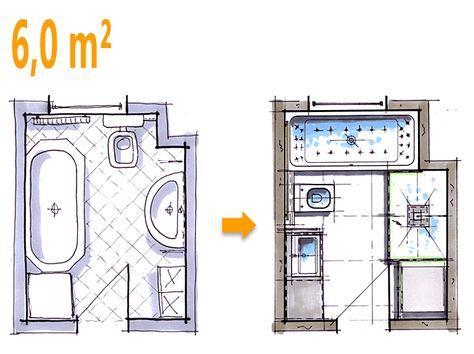 Badplanung Beispiel 6 Qm Komfortables Wellnessbad Mit