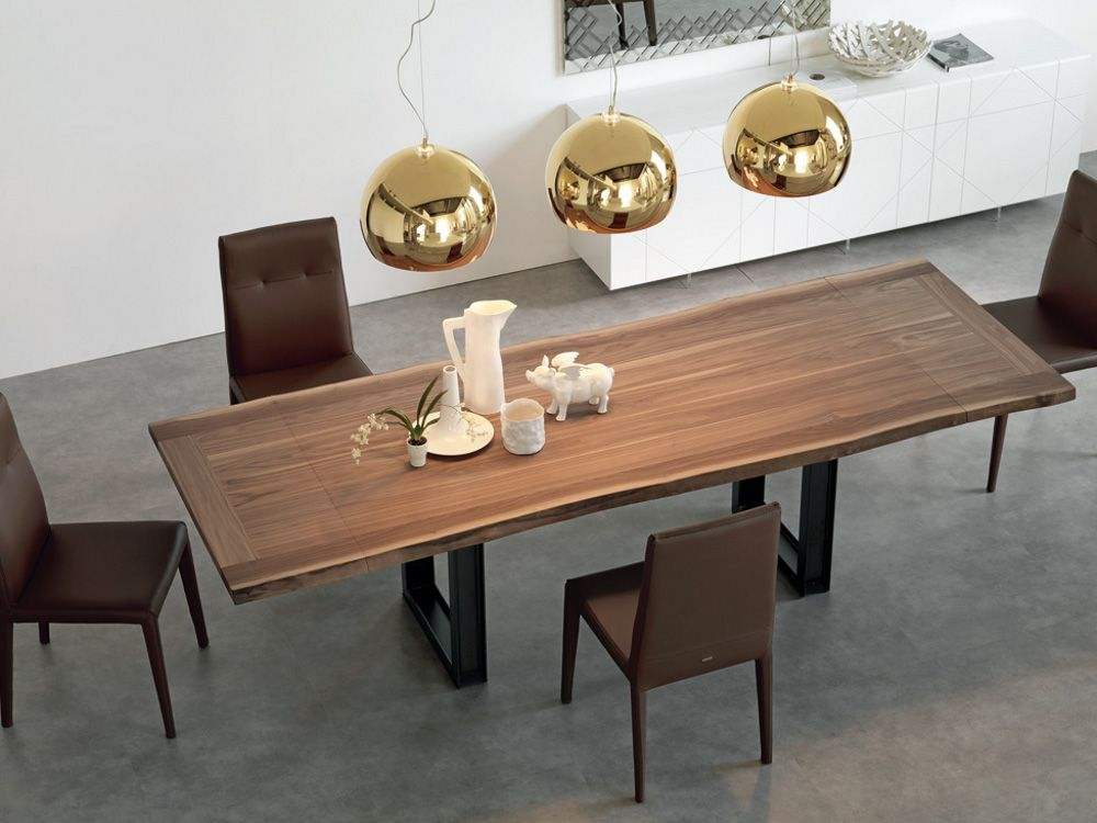 extending walnut table sigma drive - cattelan italia | tables