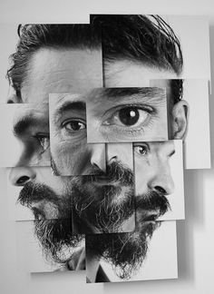 I chose this picture because it is cool how each picture is a different size. Some are vertical and horizontal. Some have the sides of his face while others enlarge a part of his face or make it smaller. I thought this photo was very unique.