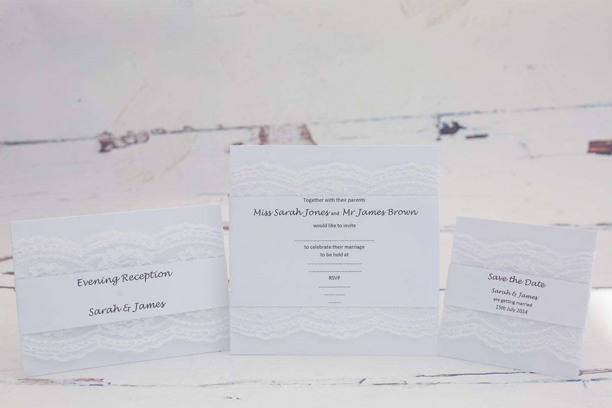 White Lace, Wedding Invitation Range