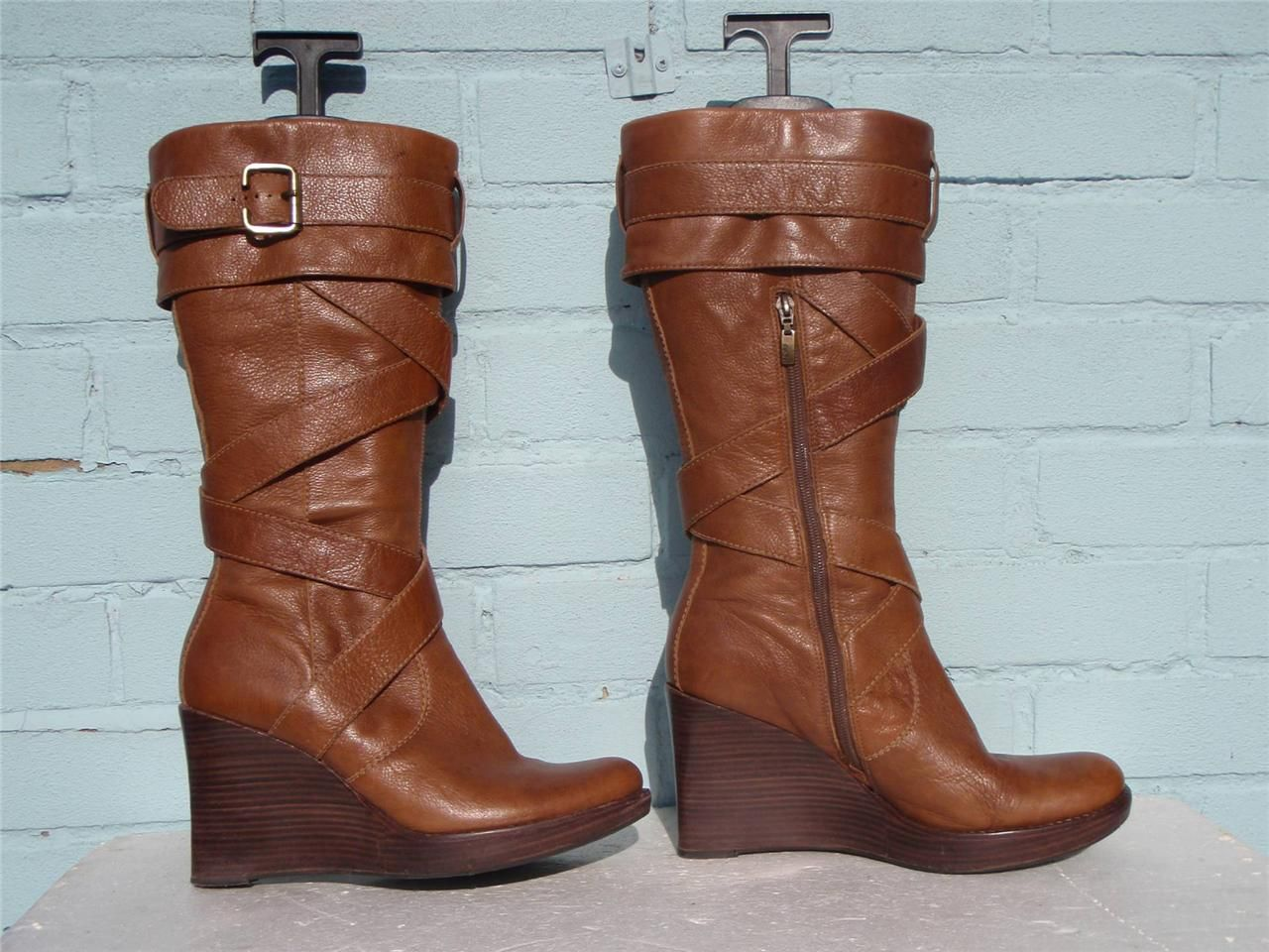 Womens Ladies Leather Boots Size 8 42