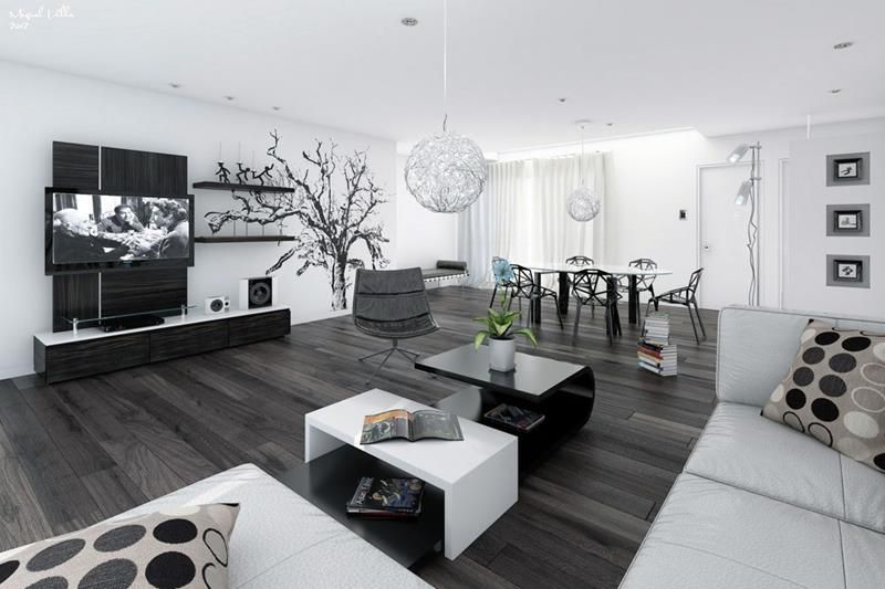 24 Large Open Concept Living Room Designs Page 4 Of 5 White House Interior Modern White Living Room Living Room White