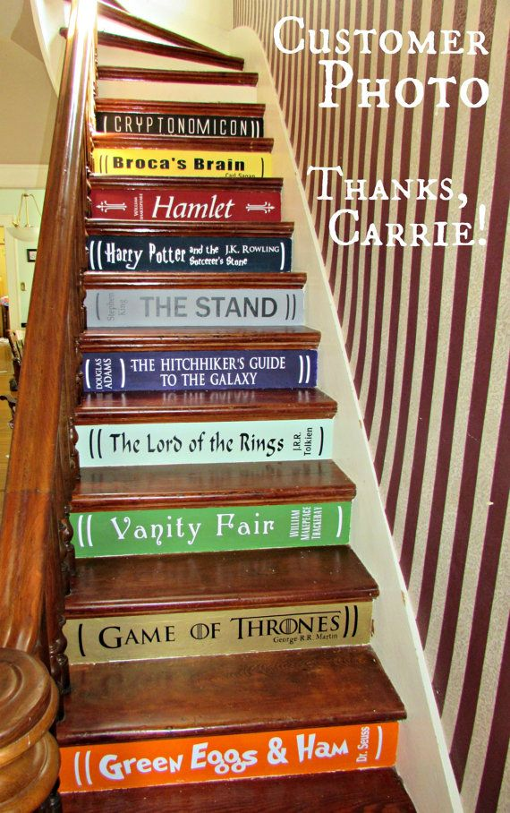 Two Or More Book Stair Decals   Lettering For DIY Book Steps