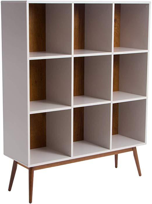 Amazon Com Memomad Mid Century Modern Cube Bookcase Off White