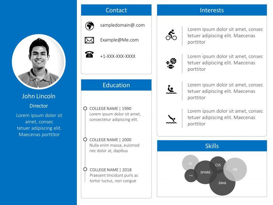 Interview Resume Powerpoint Presentation Slide 3 Powerpoint Presentation Powerpoint Presentation Slides Powerpoint Design Templates
