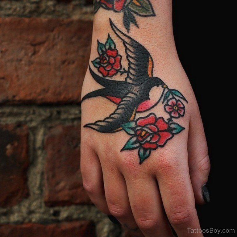 Small Sparrow Tradtional Tattoo