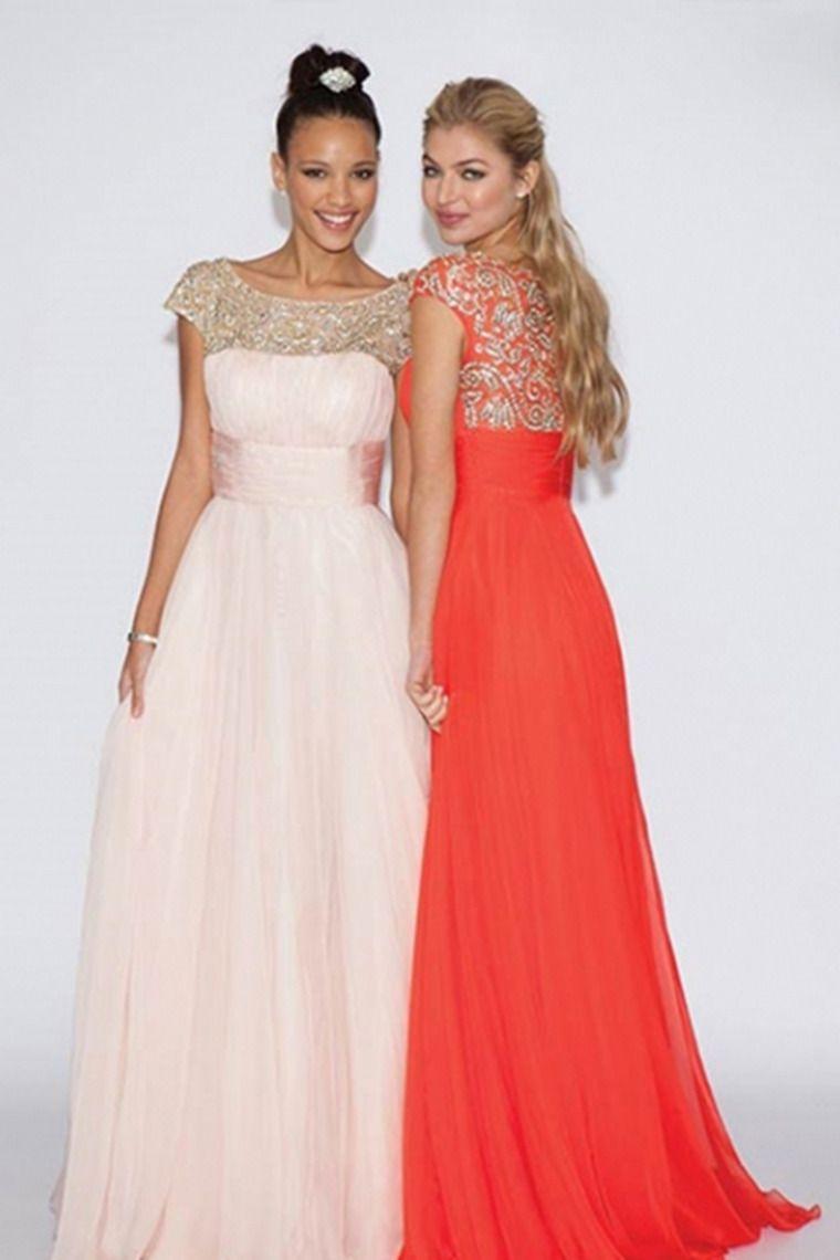 ruffled prom dresses scoop neckline beaded tulle bodice pick up