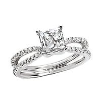 Gorgeous double shank diamond engagement ring design by Aaland Diamond Jewelers