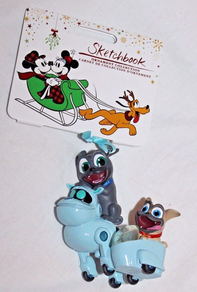 Disney Store Sketchbook Ornament Rolly Bingo And A R F Puppy