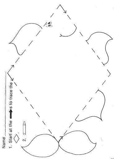 Trace Diamond Worksheet Crafts And Worksheets For Preschool Toddler And Kindergarten Shapes Worksheets Shapes Preschool Shapes Kindergarten Diamond shape worksheet for preschool