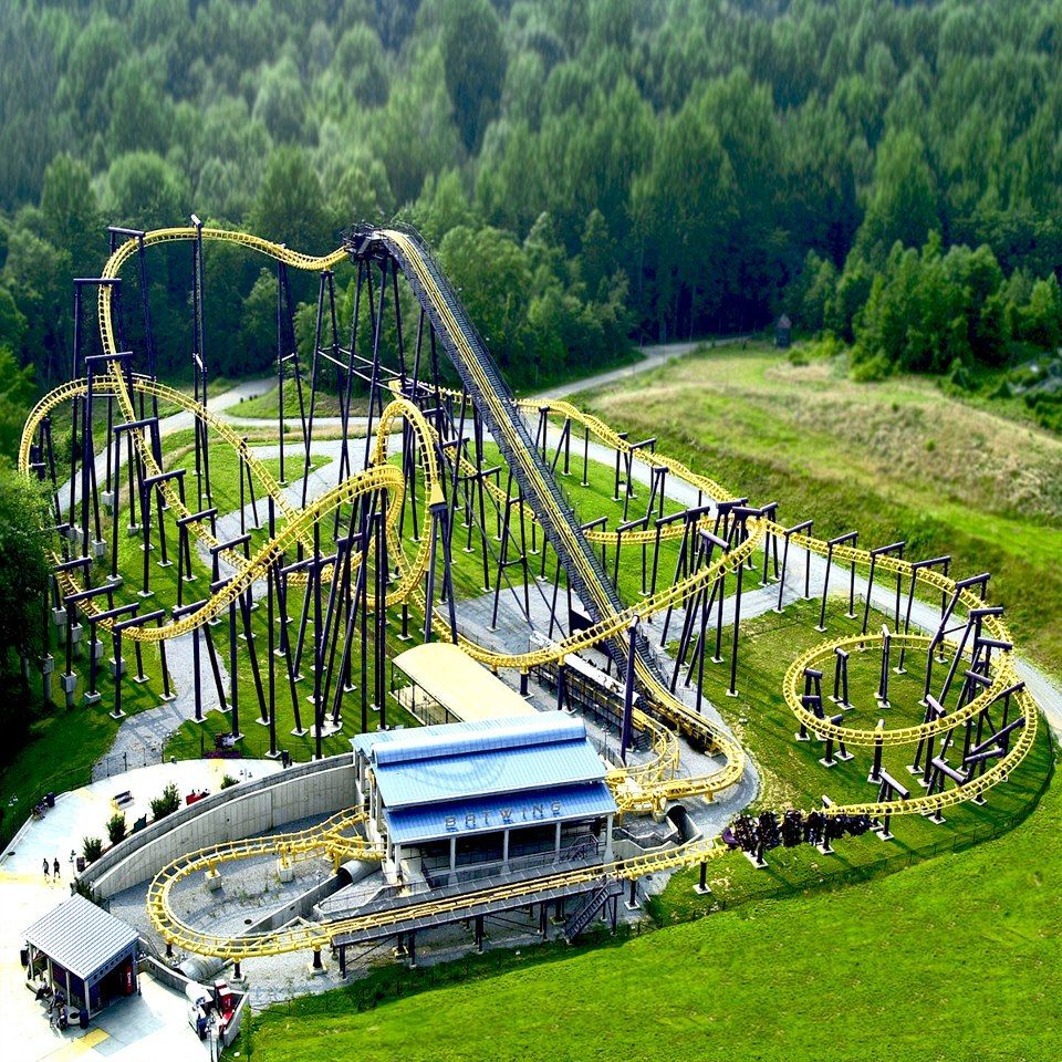 Batwing Six Flags America Roller Coaster Park Theme Parks Rides Best Amusement Parks