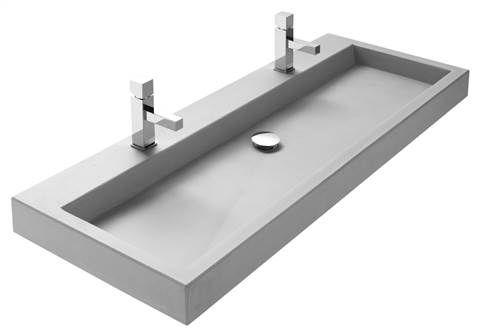Wastafel beton allure met grote kom wastafel beton wastafel