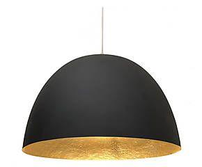 Lampada a sospensione in nebulite H2O nero/oro - D 46 cm