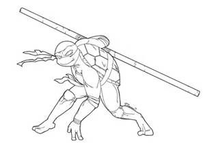 Teenage Mutant Ninja Turtles Donatello Coloring Pages Teenage