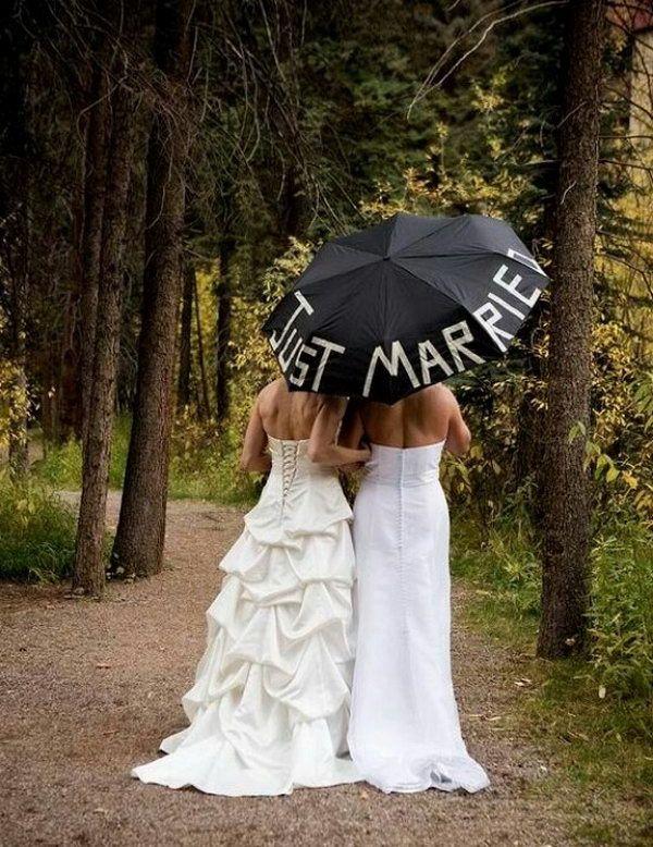 Just Married, Cute Lesbian Wedding Ideas, Http://hative.com/