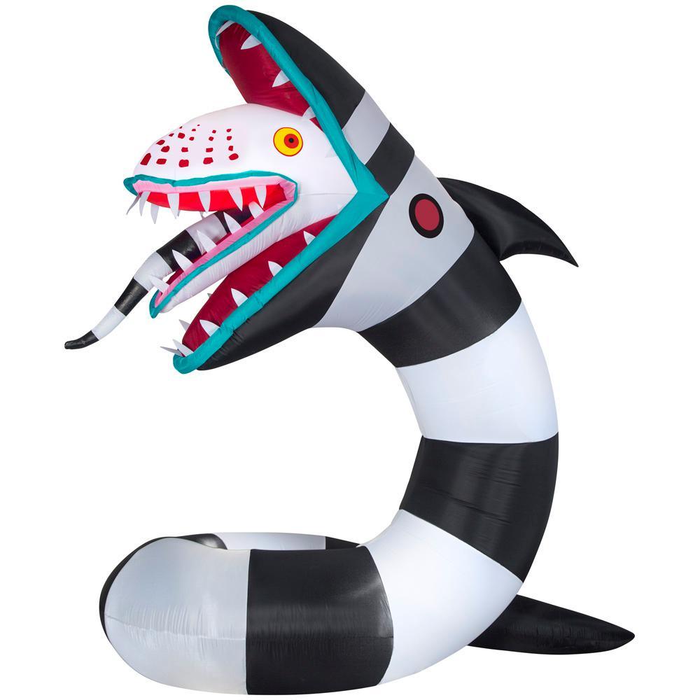 Pin By Kira Greener On Holidays Beetlejuice Sandworm Halloween Inflatables Beetlejuice
