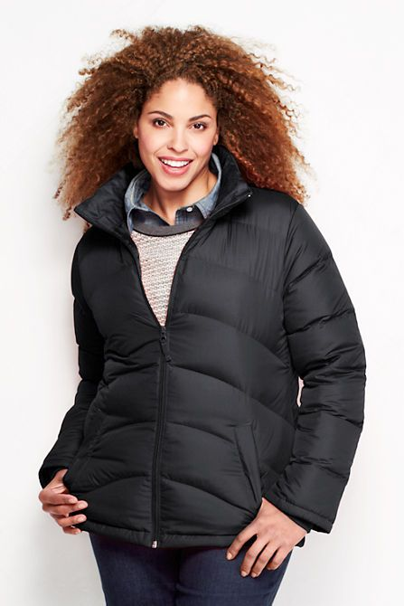 48f8c33e6aee2 Women s Plus Size Down Jacket from Lands  End