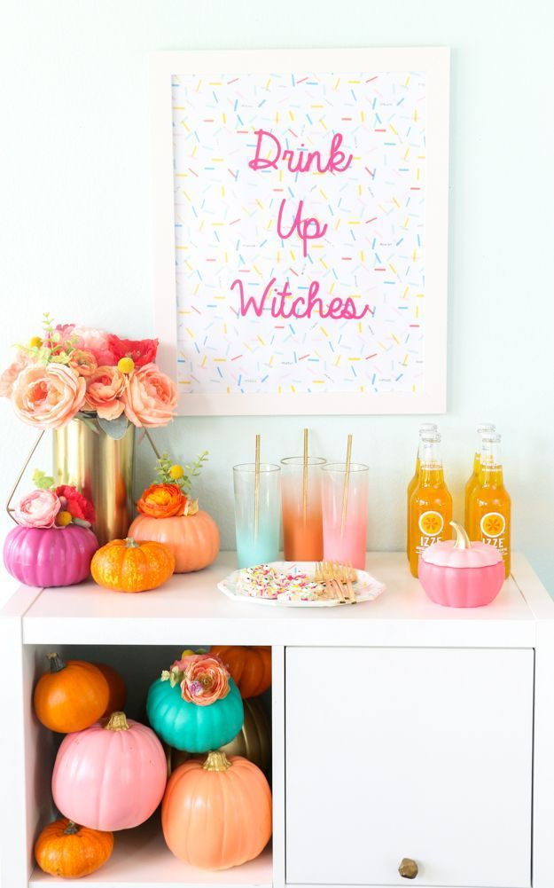 How to throw a colorful halloween party with DIY decorations and - halloween party decorations diy