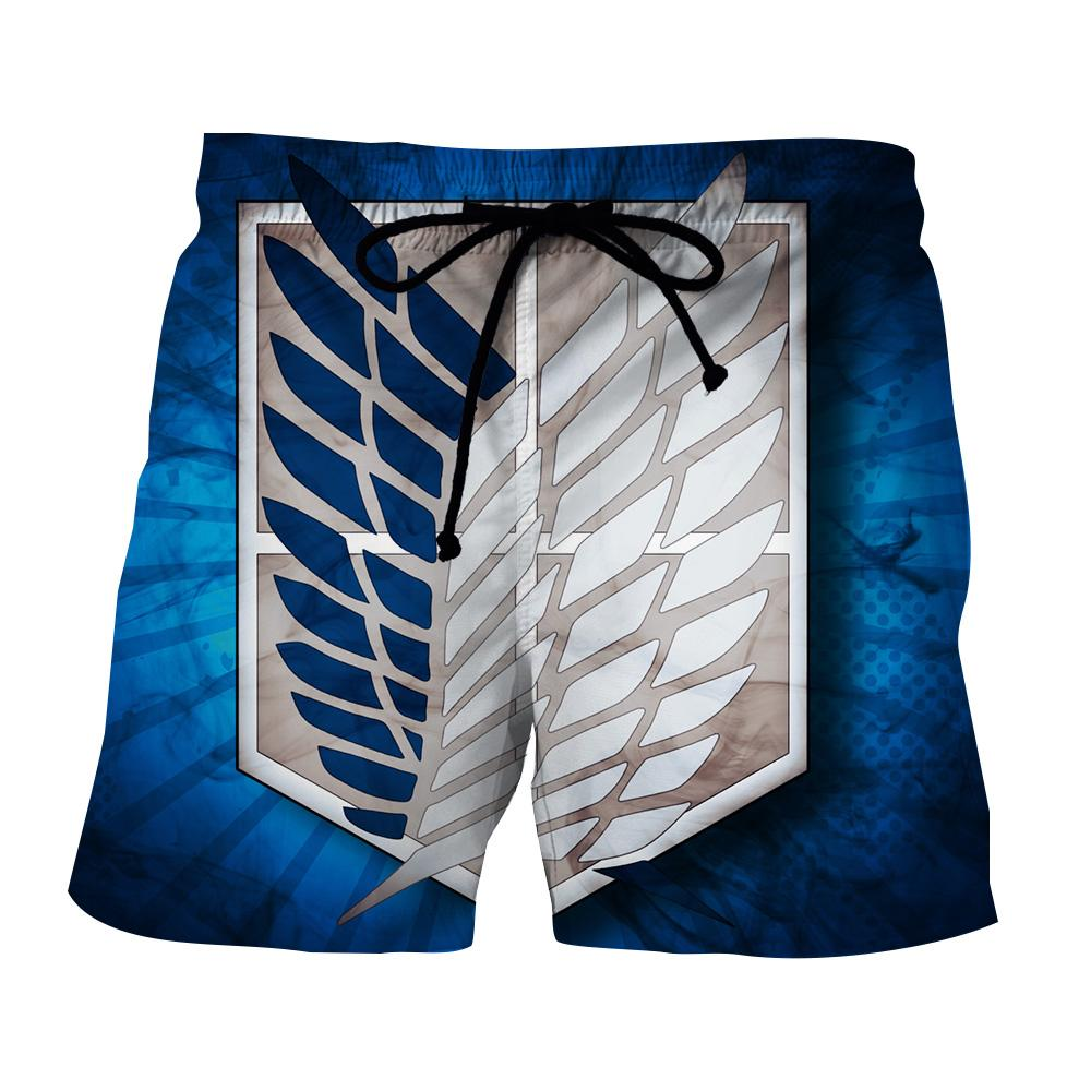Attack on titan scout regiment blue and white symbol short