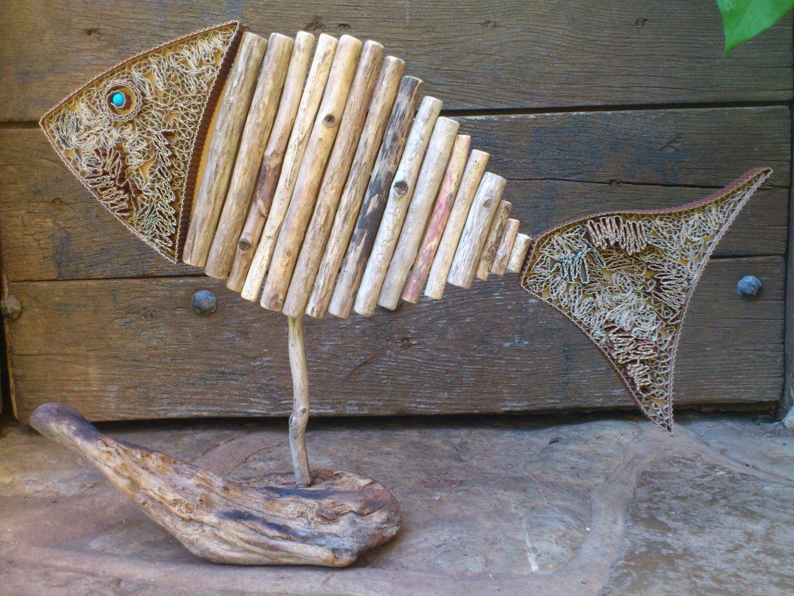 poisson bois flotté   Driftwood - inspiration   Pinterest   Driftwood