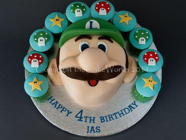 Incredible Mario And Luigi Birthday Cakes Cool Cupcakes For Boys Birthday Funny Birthday Cards Online Unhofree Goldxyz