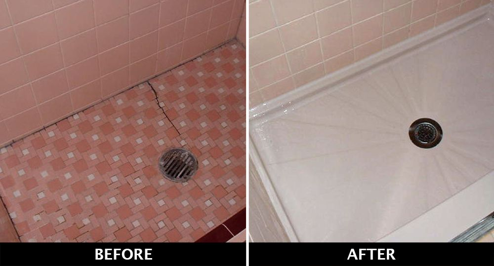 Pin By West Shore Home Nc On Our Before After Bathroom Remodeling Photos Replace Shower Shower Floor Shower Pan