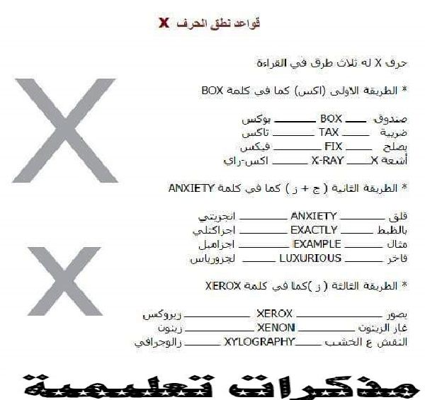 Letter X English Worksheets
