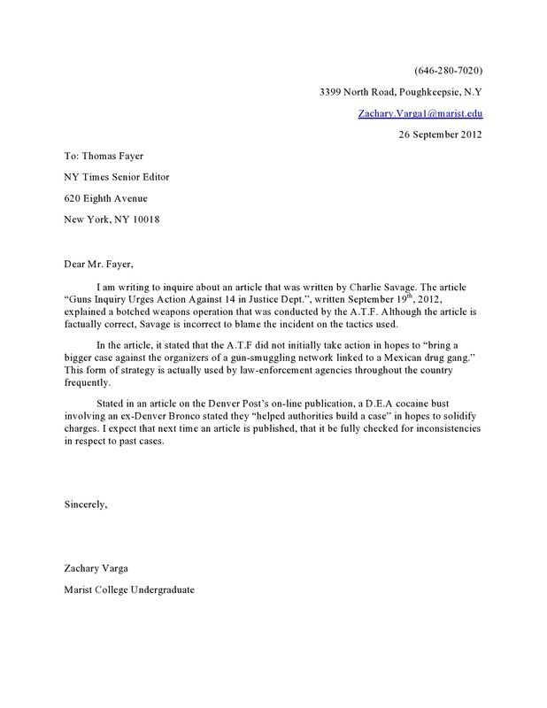 Graduate School Letter Of Intent Sample Letter To The Editor Memo Format Letter Example