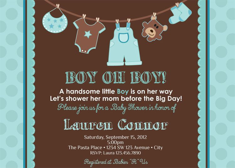 Nice Create Baby Shower Boy Invitations Free Templates - free templates for invitation cards