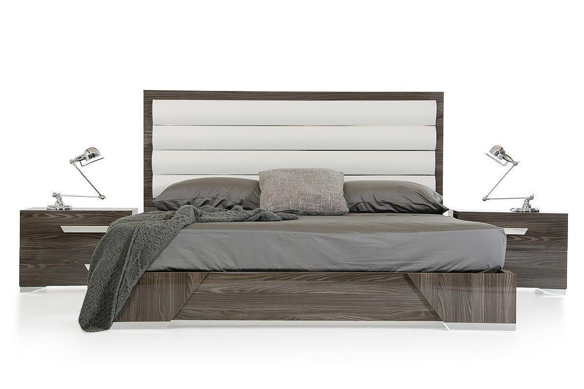 nova domus capulet italian modern grey eastern king size bed