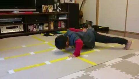 6yr Old Mini-beast with the push-up variations Vid of @ryusei416